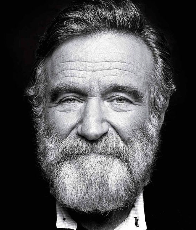 Comedic actor Robin Williams