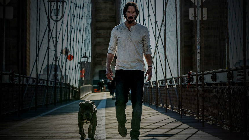John Wick and pup
